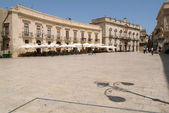 Dome square of Siracusa on Sicily — Stock Photo