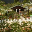 Traditional house at Hell Bourg on La Reunion island - Stock Photo