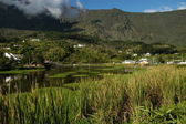 Mountain lake at Cilaos on Reunion island — Stock Photo