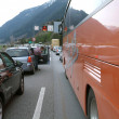Traffic Jam on a Highway — Stock Photo