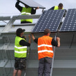 Solar panels implant on southern switzerland — Stock Photo #16498559