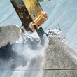 Demolition of wall with pneumatic hammer — Stockfoto #16499839