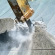 Demolition of wall with pneumatic hammer — Photo #16499839