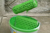 Bucket with paint — Stock Photo