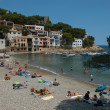The beach of Sa Tuna on Costa Brava, Spain — Stock Photo