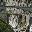 Devil's Bridge on Swiss alps — Foto de Stock