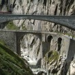 Devil's Bridge on Swiss alps — Foto Stock
