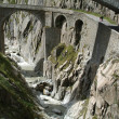 Devil's Bridge on Swiss alps — Stock Photo #17415911