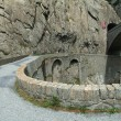 Devil's Bridge on Swiss alps — Stock Photo