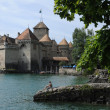 Chillon castle on the lake — Stock Photo