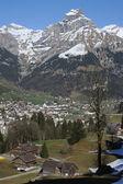 The village of Engelberg on Swiss alps — Stock Photo
