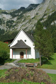 White plain mountain chapel — Stock Photo