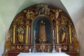 Black Madonna on a chapel at Engelberg — Stock Photo