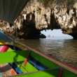 Touristic boat at a cave of Phang Nga island — Stock Photo