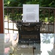 The typewriter of  Herman Hesse - Stockfoto