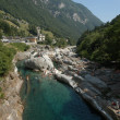 River Verzasca on Verzasca valley - Stock Photo