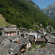 Village of Sonogno on Verzasca valley - Stock Photo