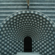 Interior view, San Giovanni Battista, modern church by Mario Botta — Photo