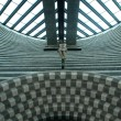 Interior view, San Giovanni Battista, modern church by Mario Botta — Lizenzfreies Foto