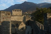 Castle Montebello at Bellinzona, Unesco world heritage — Stock Photo
