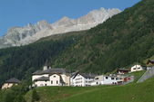Village of Bedretto on Bedretto valley on Swiss alps — Stock Photo