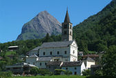 Villages of Aquila on Blenio valley — Stock Photo