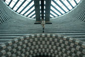 Interior view, San Giovanni Battista, modern church by Mario Botta — Stock Photo