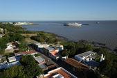 Port of the colonial city of Colonia del Sacramento, Uruguay — Stock Photo