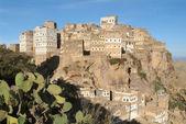 Il villaggio al hajjarah su yemen — Foto Stock