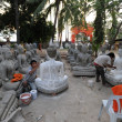 Stock Photo: Building Buddhstatues at temple of Wat Sainyaphum at Savannakhet