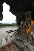 Buddha- statues, Pak Ou Caves, Laos — Stock Photo