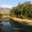 River at the village of Ban Kong Lo in Laos — Stock Photo