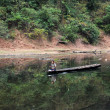 Stock Photo: Canoeing on Mekong River near Luang Prabang in Laos