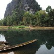 Landscape by the river on Laos — Stock Photo