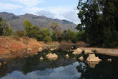 River at the village of Ban Kong Lo in Laos — Stock Photo
