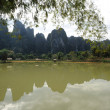 Photo: Rural landscape near Vang Vieng on Laos