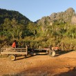 Rural landscape near Vang Vieng on Laos — Stock Photo #18516205