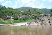The village of Pak Beng on river Mekong in Laos — Stock Photo