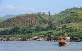 Boat on Mekong River in Laos — Stock Photo