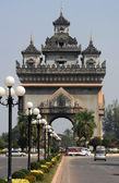 The arch of Patuxa at Vientiane on Laos — Stock Photo