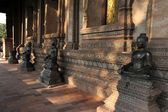 Sculptures at the museum of Ho Phra Keo at Ventiane on Laos — ストック写真