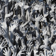 Hands From Hell at Wat Rong Khun in Chiang Rai; Thailand — Stock Photo