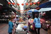 El mercado del barrio chino de bangkok en tailandia — Foto de Stock