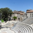 The Roman amphitheater at Arles and sand in France — Stock Photo