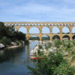 Roman bridge of Gard on France — Stock Photo