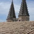 Roof of Palais des Papes on Avignon on France - 图库照片