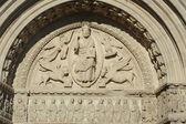 Verlichting op de kerk van st. trophimus in arles in frankrijk — Stockfoto