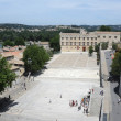 The Petit Palace on Palace Square at Avignon on France - Stock Photo