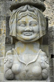 Statue at the door of the citadel of Carcassonne — Stok fotoğraf