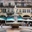 Market square of Erbe at Verona on Italy — Lizenzfreies Foto